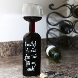 Винный бокал-бутылка